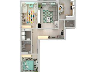 3 camere bloc nou Buiucani!