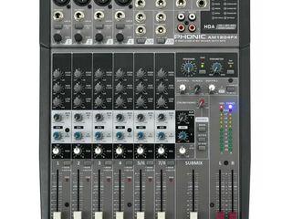 Set Mixer + 2 Boxe + 2 Stative + 2 Cabluri Boxe + Microfon Cadou