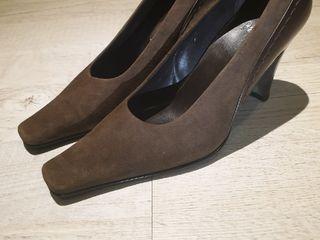 Замш туфли Paolo