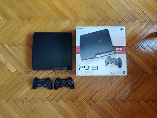 PS3 slim-прошитая+45 игр+ джостики