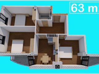 3 odai , suprafata 63 m2 , 27500 euro