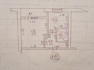 Mateevici nr20. soroca nouă. apartament cu 1 odaie de la proprietar.