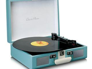 """Lenco TT-110 - проигрыватель виниловых дисков в стиле """"ретро"""" со встроенным усилителем и акустикой."""