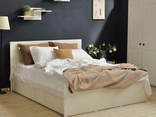 Pat Linia Uno + Saltea ortopedica + 2 sertare in culoarea patului