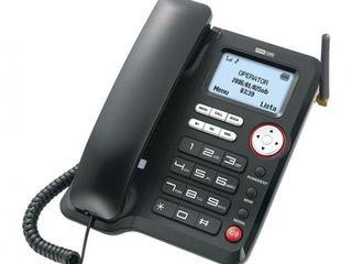Telefon fix cu cartela SIM 3G - MaxCom Comfort MM29D, Black, nou