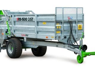Remorcă pentru distribuirea îngrășămintelor menajere RS- 1500 , la 3,5 t
