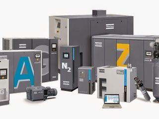 Широкий выбор воздушных компрессоров  Atlas Copco