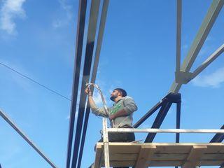 Vopsirea mecanizata a construcțiilor din metal!