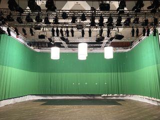 Съемочный павильон в аренду.  Video Studio Rental. Chromakey 30m*6.0m Green/ Blue/ White