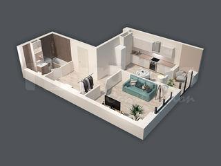 Apartament de 50,05 m2 cu o cameră! Sec. Râșcani!