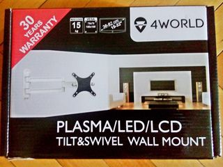 белый кронштейн для LED телевизора и монитора, раскладывается и складывается