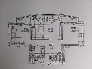 Apartament în centru cu 2 odăi
