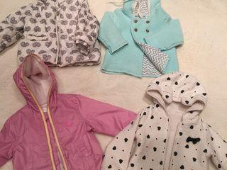 Фирменные вещи для девочки 9 - 18 месяцев Куртки ветровка для мальчика 5 лет