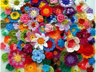 Вязаные салфетки, наволочки, цветы, аппликации, вещи, сумки