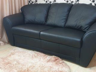 Canapea de piele naturala cu functie de dormit Schlaraffia