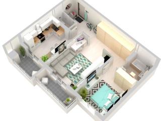 Se vinde apartament spatios cu 2 odai in bloc nou REDUCERI + cadou usa cu decor