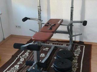 Фитнес станция, скамья, штанга. Statie multifunctionala Fitness.