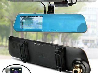 видеорегестратор   зеркало с 2  камерами    + подарок - очки  доставка бесплатная 0  лей