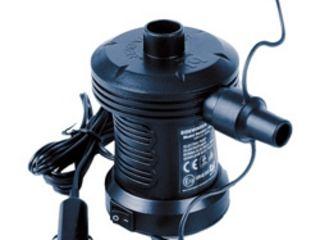 Электрический воздушный насос с 3 адаптерами для лодок матрасов и др.