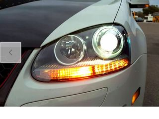Фары новые Golf Jetta V 5 GTI R32 Clear Black