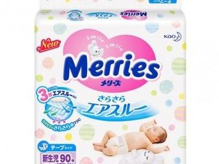 Merries подгузники Newborn, 3-5кг.90 шт