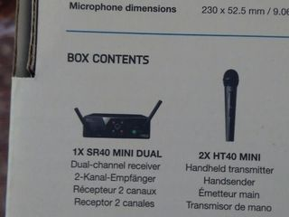 2 microfoane plus sistemul fara cabluri nou Беспроводная система