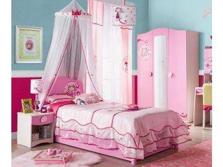 Б/У Детская кровать для девочки серии PRINCESS фирмы CILEK - весь набор кровать, матрас, балдахин