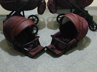 Шикарные  почти новые колясочки 2 в 1 adamex marconi лён эко кожа  супер!