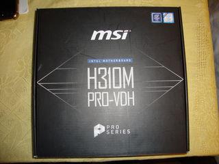 Placa de baza  MSI  H310M PRO-VDH (Intel Motherboard), LGA 1151, NOU, sigilat. Pret: 60 euro