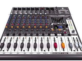 Mixer pasiv ,,Behringer'' Xenyx X1222 fx, rever, dilay ,99 programe. 2800 lei !!! nou