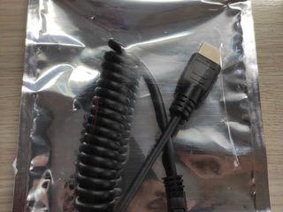 Atomos cablu HDMI Mini-Mare 30cm Spiralat
