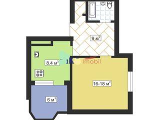 Cumpăr apartament cu o odaie în bloc secundar.
