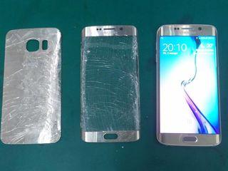 Треснуло стекло на телефоне. А сенсор и дисплей работают. Замена стекла на samsung s8, s8 plus.