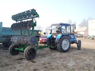 Grapa cu discuri DAN-2,5 suspendata sau tractata / MTZ, tractor 80-90 c.p. (discator)