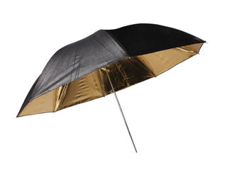 Umbrela Bresser SM-01 black/gold 101cm