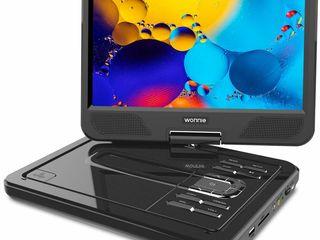 Портативный DVD-плеер с обновлением до 12,5 с 10,5-дюймовым поворотным экраном на 270 градусов
