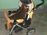 Детская прогулочная коляска Capella S-801,удобная с надёжными колесами