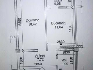 Se vinde apartament cu 1 odaie. 31570 euro, s=43.85m2