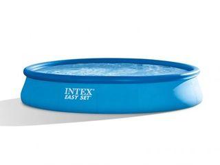 Бассейн надувной 457x84cm 9792 л. с насосом Easy Set Intex