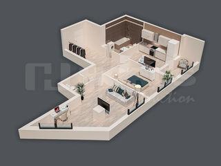 Apartament de 74,66 m2 cu 2 odăi! sec. râșcani! etajul 2. prețul 720 euro