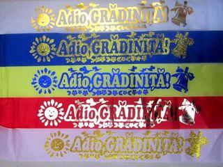 Panglici Adio Gradinita, ecusoane, diplome, mantii, toca, medalii