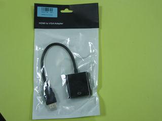 Переходник   кабель     переход   с   HDMI    на  VGA  и  Dp Port to VGA