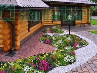 Ландшафтный дизайн. Бордюры декоративные для сада, газонная решетка.