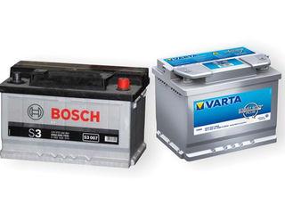 Аккумуляторы/acumulatoare-Bosch, Varta! instalare!llivrare! доставка!установка!