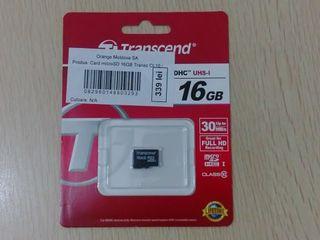 Карты памяти MicroSD 16 Gb  250 лей