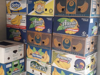 Cutii de banane noi