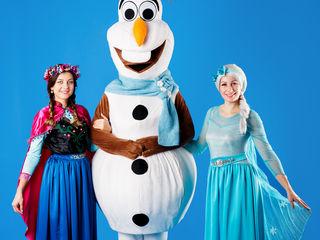 Elsa,Anna & Olaf by Buburuza Mela