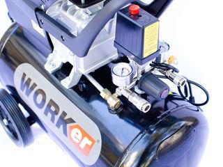 Compresor- worker 50 l, 1500 w 3 cp, 206 litrimin cu 2 iesiri !!! garantie 3 ani
