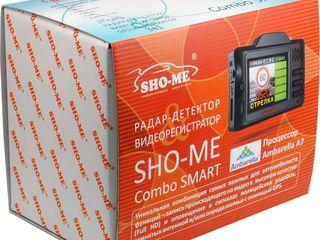 Aнтирадар+gps+видеорегистратор sho-me combo smart. кредит!