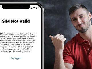 iPhone сим карта недействительна - решение 100%